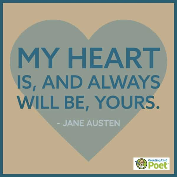 Jane Austen love quote image