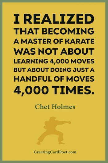 Karate mastery quote image