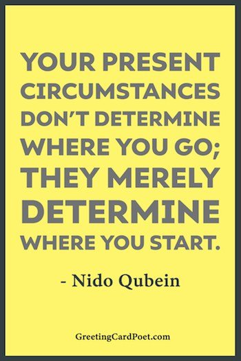 Present circumstances quote image