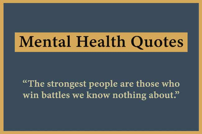 Quotes on mental health image