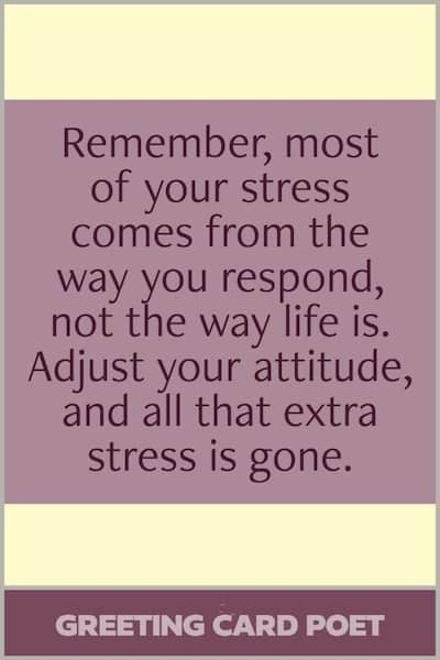 Stress and the way you respond quote image
