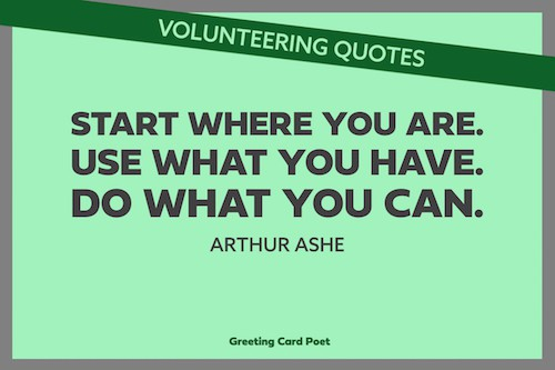 Arthur Ashe quote on doing what you can