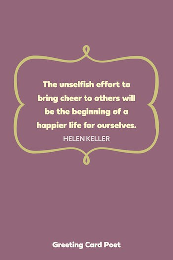 Bring cheer to others volunteer quotes