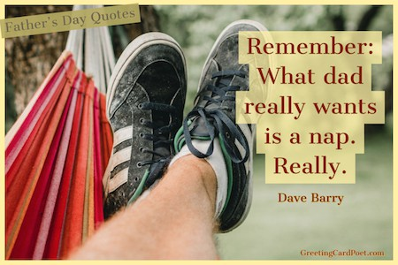 Dave Barry Quote on what to buy for fathers day image