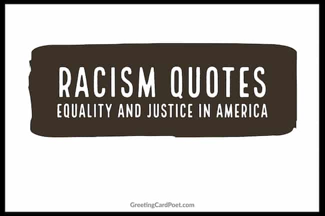 Equality and Justice in America - Racism quotes image