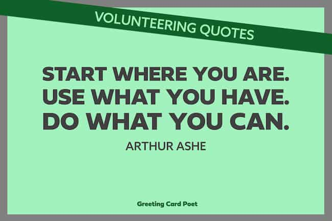 Good Volunteering Quotes