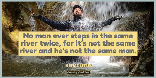 Heraclitus quote on a river