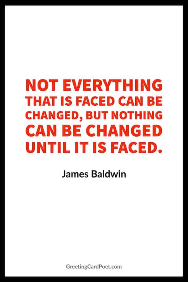 James Baldwin Quote on Change image