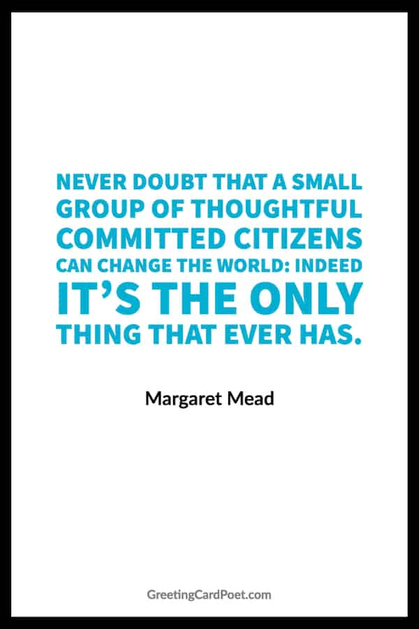 Margaret Mead quote on changing the world image