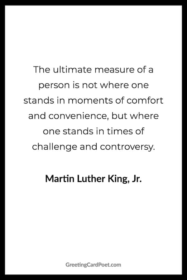 Martin Luther King Jr. quotation on measure of a person image