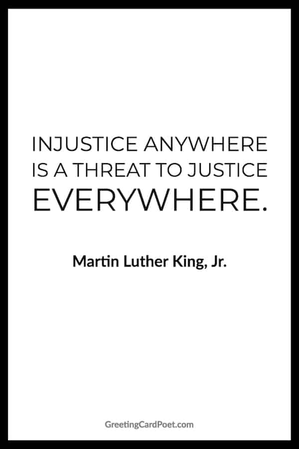 Racism quotes - Martin Luther King Jr. quote on injustice image