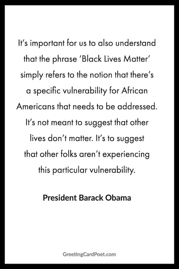 Obama on Blacks Lives Matter image
