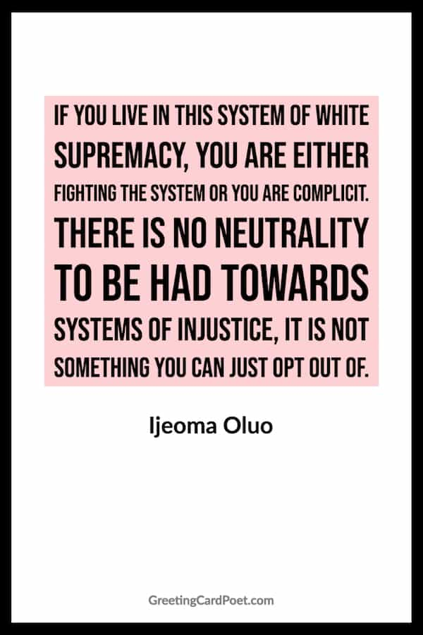 Racial injustice quote by Ijeoma Oluo image