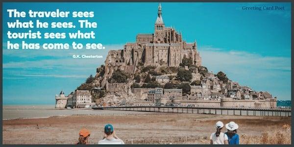 journey quotes traveler vs tourist