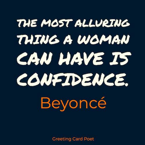 Beyonce quote on being confident