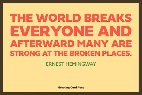 Hemingway recovery quote