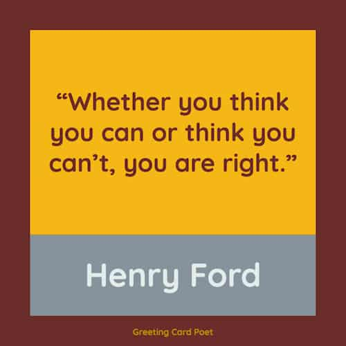 Henry Ford quote on thinking you can