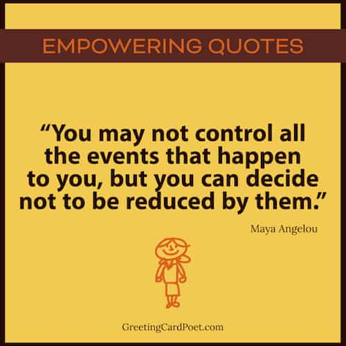 Maya Angelou quote on empowerment