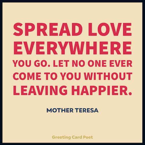 Mother Teresa on spreading love