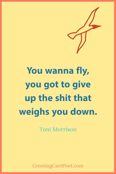 Toni Morrison you wanna fly - empowering quotes