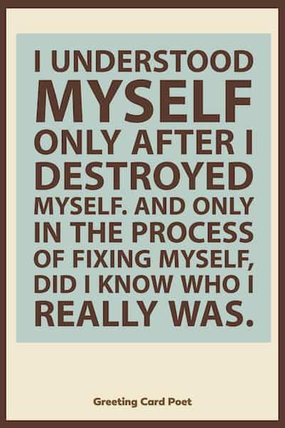 Understanding myself healing quote