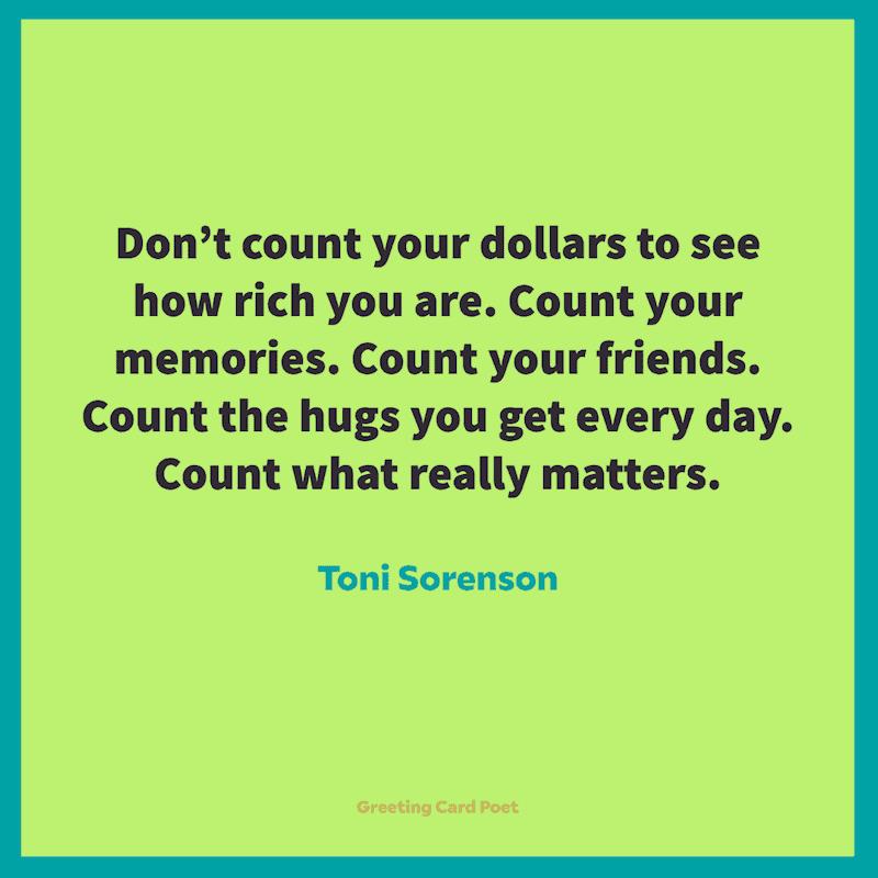 Blessed Quotes - Toni Sorenson