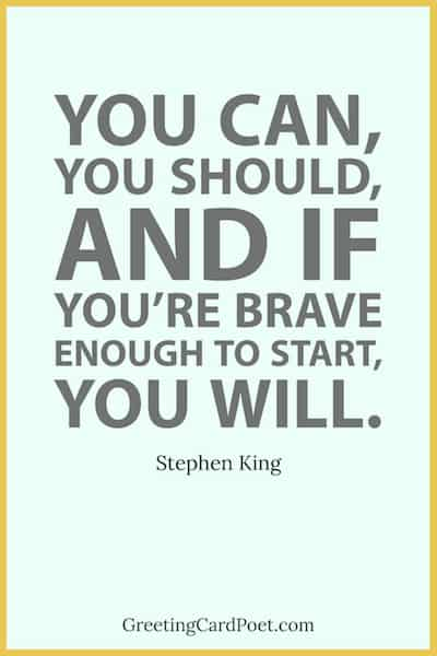 Stephen King quote on starting