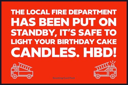 Fire department on alert birthday message for sister in law