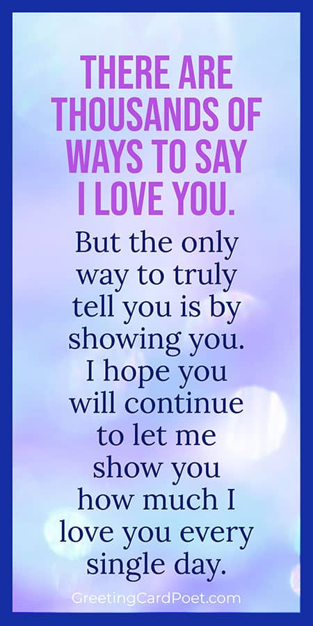 Loving you every single day note