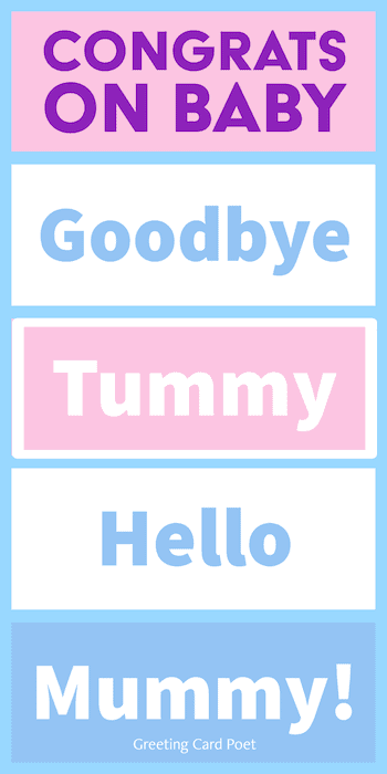 Goodbye Tummy, Hello Mummy - Congratulations Baby Messages