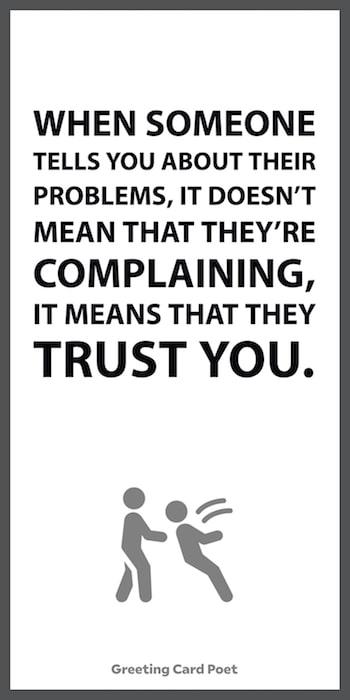Trusting people meme