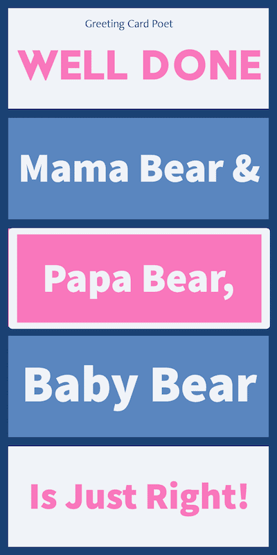 Well Done Mama Bear — Congratulations New Baby