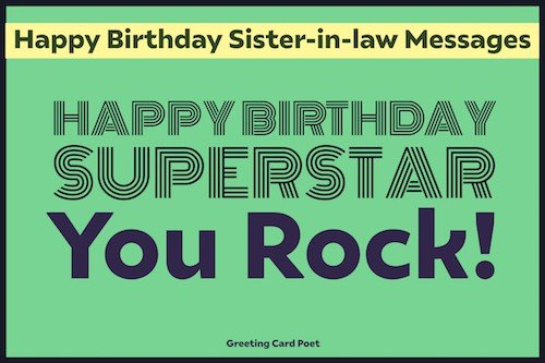 happy birthday superstar - you rock messages