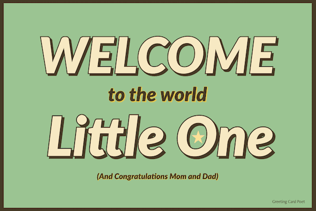 Welcome to the World - baby quotes