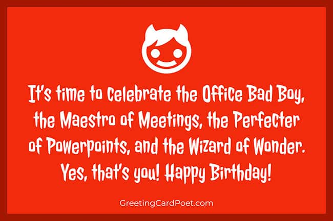 Happy birthday for office colleagues