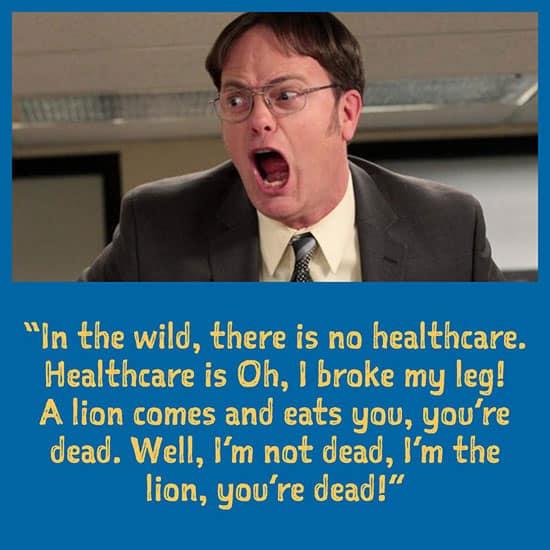 Dwight on healthcare meme