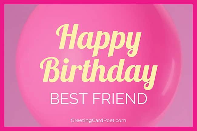 Happy Birthday Best Friend Title