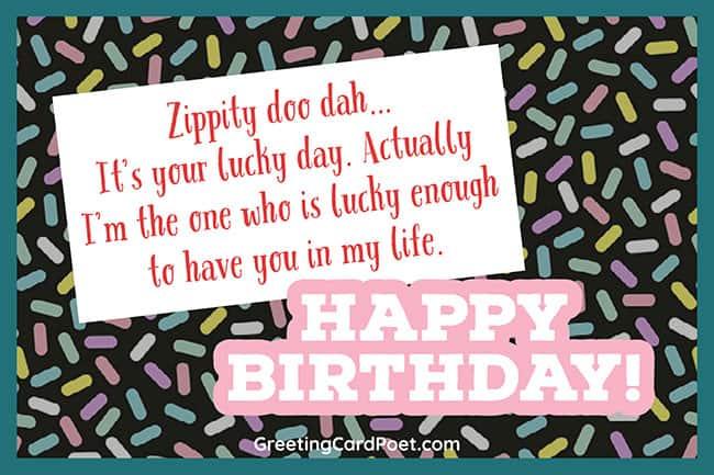 Zippity doo dah - Happy birthday best friend
