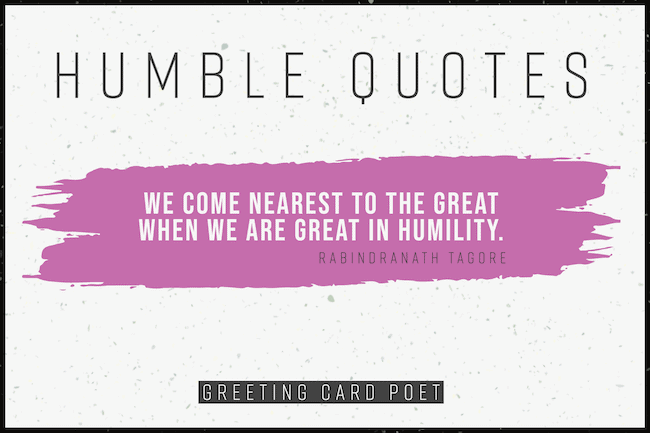 Best Humble Quotes