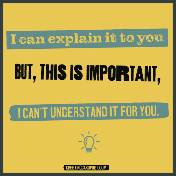 I can't understand it for you - good insults