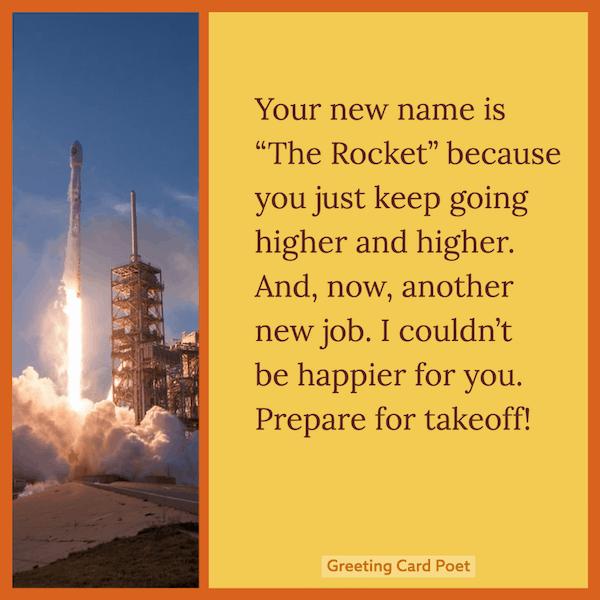 Prepare for takeoff - congrats message