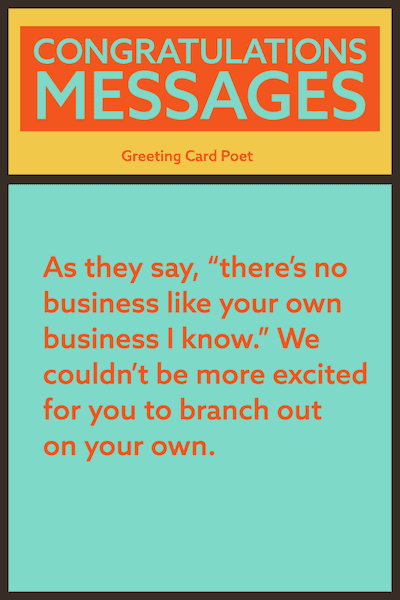 There's no business like your own business message