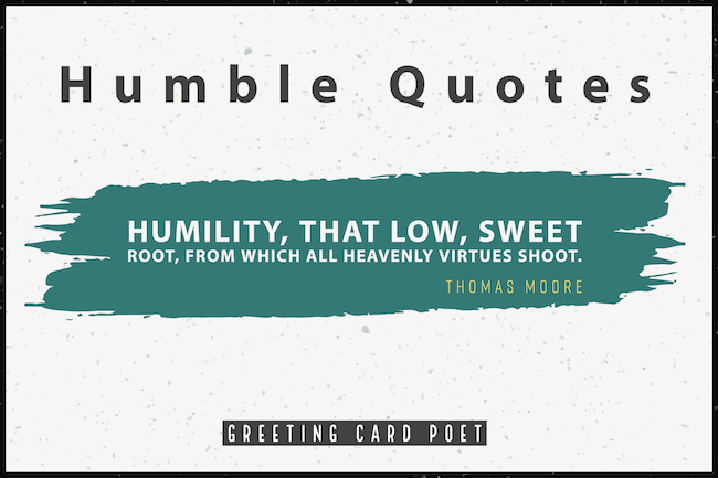 Thomas Moore quote on humility