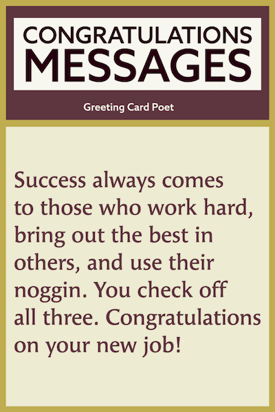 You check off all three - congratulations success messages