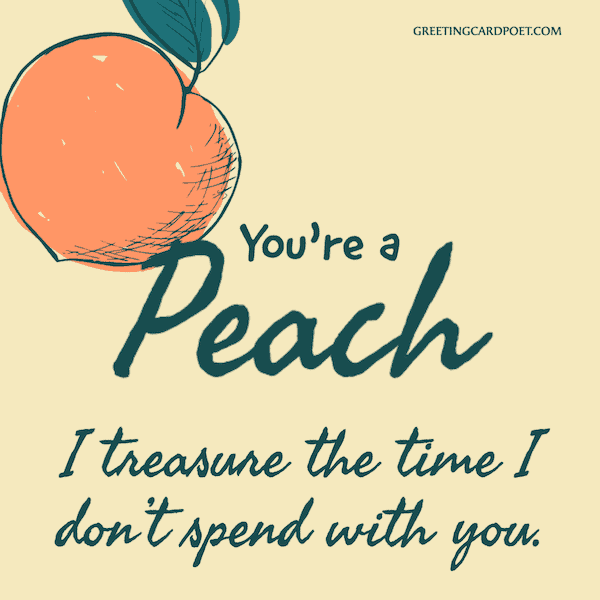 You're a peach - good insults