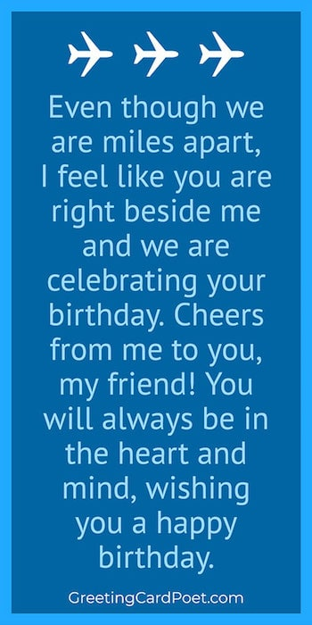 Long-distance happy birthday paragraph