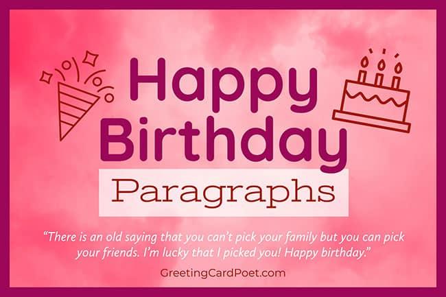 happy birthday paragraph title