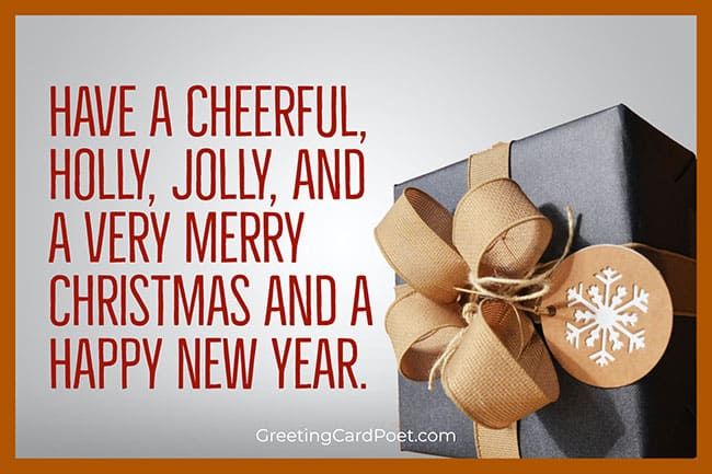 Holly and Jolly — Merry Christmas Blessings