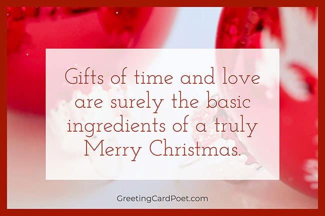 basic ingredients - Merry Christmas Blessings