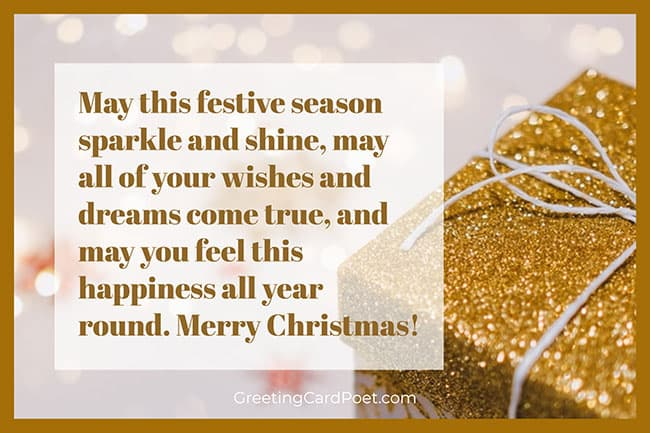 May this festive season sparkle and shine
